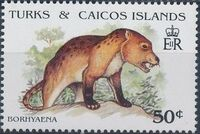 Turks and Caicos Islands 1991 Extinct Animals d