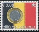 Vatican City 2004 Flags and One-Euro Coins b