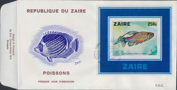 Zaire 1978 Fishes fd