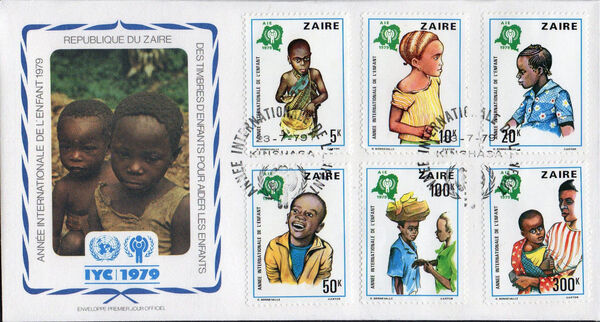 Zaire 1979 International Year of the Child fa