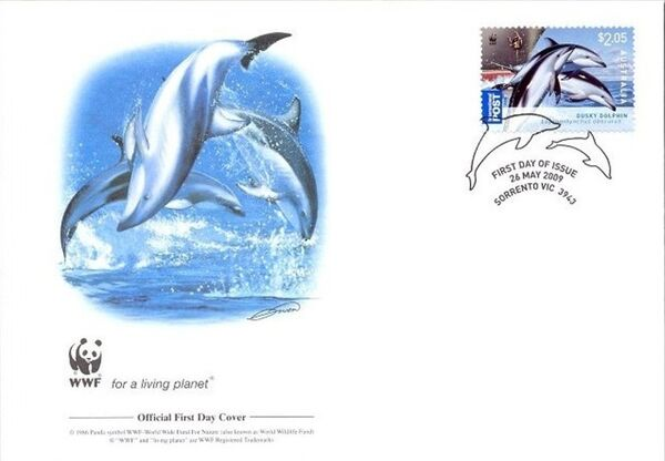 Australia 2009 WWF - Dolphins of the Australian Coastline FDCd