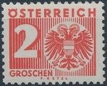 Austria 1935 Coat of Arms and Digit b
