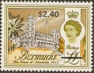 Bermuda 1970 Definitive Issue of 1962 Surcharged q