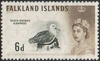 Falkland Islands 1960 Queen Elizabeth II and Birds h