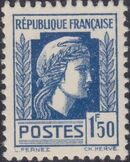 France 1944 Series d'Algiers (Cock of Alger and Marianne of Fernez) n