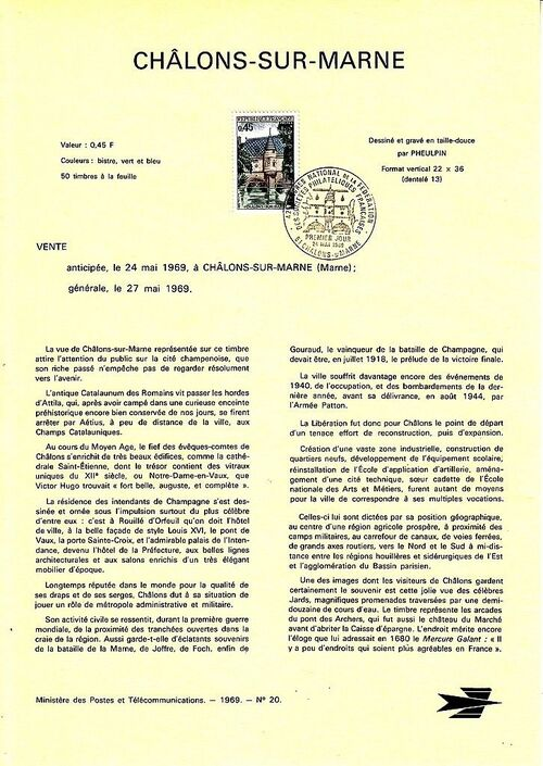 France 1969 42nd Congress of the Federation Philatelic Societies IOPa