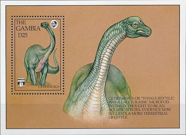 Gambia 1992 Dinosaurs SSc
