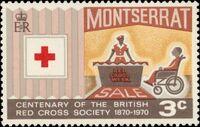 Montserrat 1970 Centenary of British Red Cross Society a
