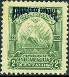 Nicaragua 1895 Official Stamps Overprinted in Blue b