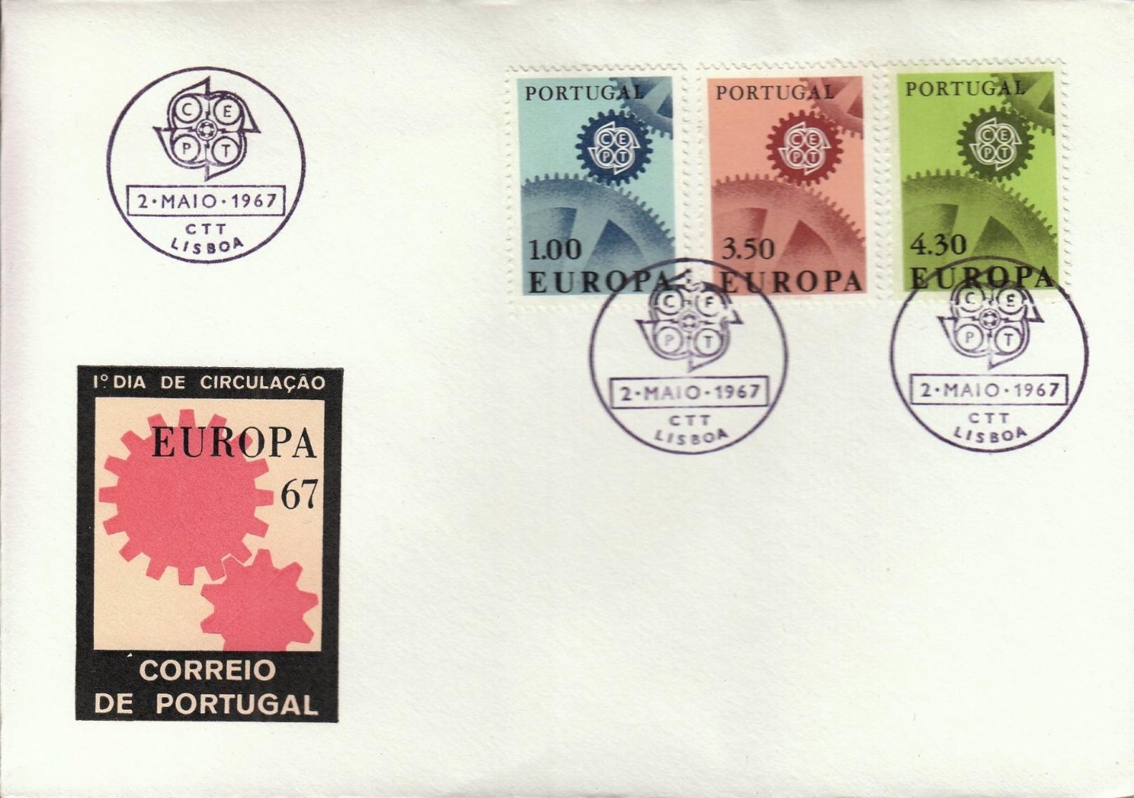 Portugal 1967 Europa FDC