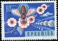 Romania 1963 Bees & Silk Worms e