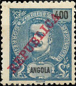 Angola 1911 D. Carlos I Overprinted m