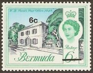 Bermuda 1970 Definitive Issue of 1962 Surcharged f