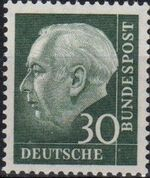 Germany, Federal Republic 1957 Pres. Theodor Heuss a