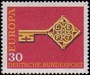 Germany, Federal Republic 1968 Europa b