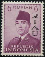Indonesia-Riau 1960 President Sukarno - Definitives e