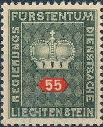 Liechtenstein 1950 Crown f