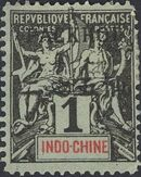 Pakhoi 1903 Stamps of Indo-China Surcharged a