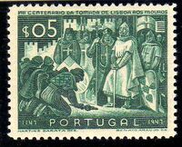 Portugal 1947 800th Anniversary of the recapture of Lisboa from the Moor a