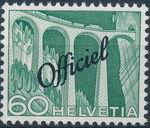 Switzerland 1950 Engineering - Switzerland Postage Stamps of 1949 Overprinted Officiel j