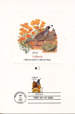 United States of America 1982 State birds and flowers FOLa5