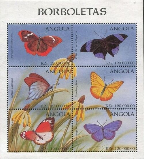 Angola 1998 Butterflies (3rd Group) SSb