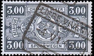 Belgium 1941 Railway Stamps (Numeral in Rectangle IV) l