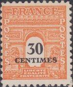 France 1945 Arc of the Triomphe - Allied Military Government a