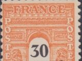 France 1945 Arc of the Triomphe - Allied Military Government