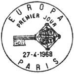 France 1968 EUROPA PMa