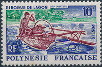 French Polynesia 1966 Boats a
