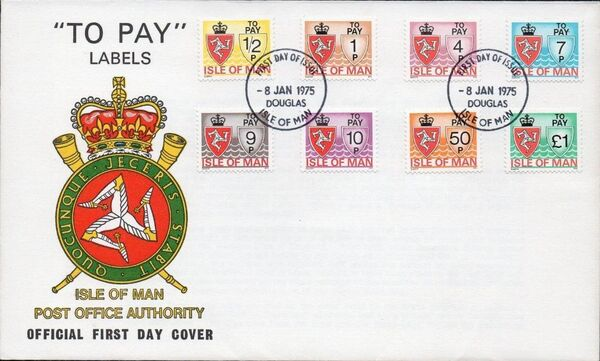Isle of Man 1975 Postage Due Stamps FDCa