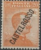 "Italy (Aegean Islands)-Castelrosso 1924 Definitives of Italy - Overprinted ""CASTELROSSO"" d"