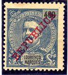 Lourenço Marques 1911 D. Carlos I Overprinted m