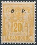 Luxembourg 1882 Industry and Commerce Overprinted g