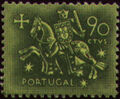 Portugal 1953 Definitives - Medieval Knight f.jpg