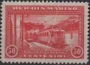 San Marino 1932 New Electric Railway Between San Marino and Rimini b