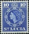 St Lucia 1953 Queen Elizabeth II and Arms of St Lucia h.jpg