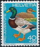 Switzerland 1971 PRO JUVENTUTE - Birds d