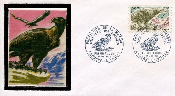 Andorra-French 1972 Nature Protection FDCa