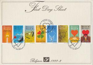 Belgium 1999 Greetings Stamps FDSa