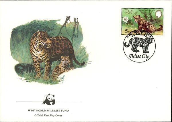 Belize 1983 WWF - Jaguar FDCa