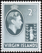 British Virgin Islands 1938 George VI and Seal of the Colony d
