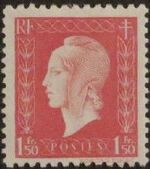 France 1944 Marianne de Dulac (1st Issue) a