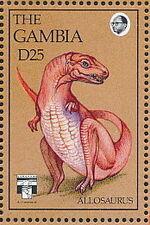 Gambia 1992 Dinosaurs m