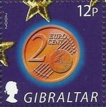Gibraltar 2002 New coins in Europe b