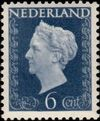 Netherlands 1948 Queen Wilhelmina - Type Hartz b