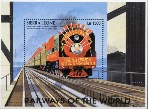 Sierra Leone 1995 Railways of the World SSc