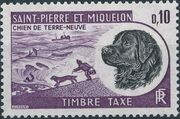 St Pierre et Miquelon 1973 Newfoundland Dog - Postage Due Stamps b