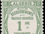 Algeria 1926 Postage Due Stamps (Type Recouvrements)